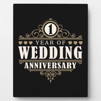 het 1st Jubileum van het Huwelijk Fotoplaten