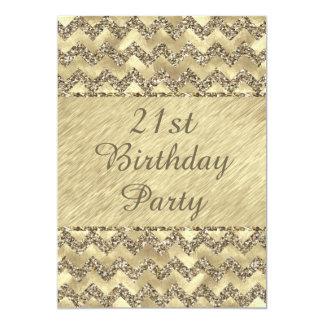het 21ste Platina van de Verjaardag schittert 12,7x17,8 Uitnodiging Kaart