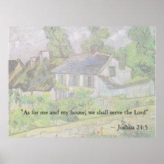 Het 24:15 Van Gogh House van Joshua Poster