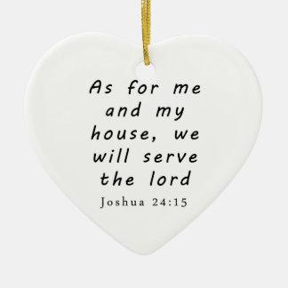 Het 24:15 van Joshua Keramisch Hart Ornament