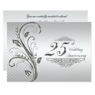 het 25ste Jubileum RSVP van het Huwelijk 8,9x12,7 Uitnodiging Kaart