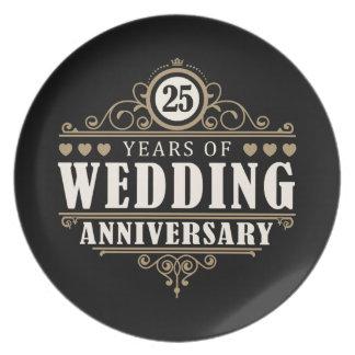 het 25ste Jubileum van het Huwelijk Borden