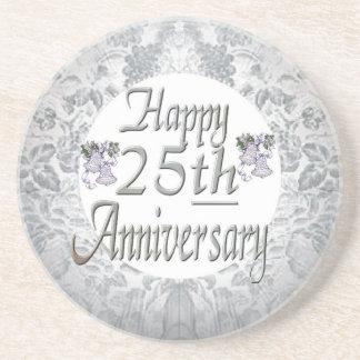het 25ste Jubileum van het Huwelijk Zandsteen Onderzetter