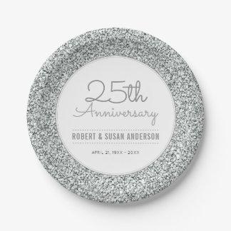 het 25ste Zilver van Faux van het Jubileum van het Papieren Bordje