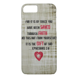 Het 2:8 van Ephesians van het Vers van de bijbel iPhone 8/7 Hoesje