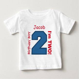 het 2de Aantal van de Sporten van de Verjaardag Baby T Shirts