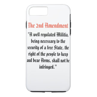 Het 2de Amendement iPhone 8/7 Plus Hoesje