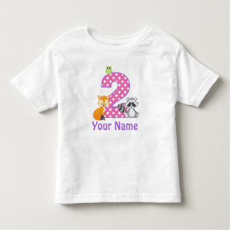 het 2de Bos Gepersonaliseerde Dier van het Kinder Shirts