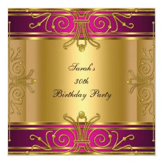 het 30ste Art deco van de Partij van de Verjaardag 13,3x13,3 Vierkante Uitnodiging Kaart