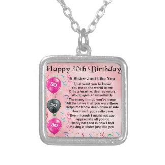 het 30ste Gedicht van de Zuster van de Verjaardag Persoonlijke Sieraden