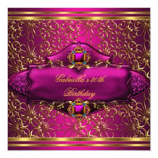 het 30ste Goud van de Partij van de Verjaardag 13,3x13,3 Vierkante Uitnodiging Kaart