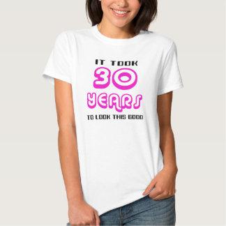 het 30ste Overhemd van de Verjaardag Tshirts