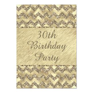 het 30ste Platina van de Verjaardag schittert 12,7x17,8 Uitnodiging Kaart
