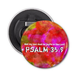 Het 35:9 van de psalm button flesopener