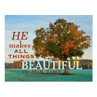 Het 3:11 van Ecclesiastes Al dingen mooi Briefkaart