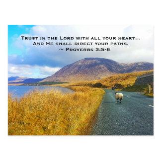 Het 3:5 van gezegden - 6 vertrouwen op Lord, Mooi Briefkaart