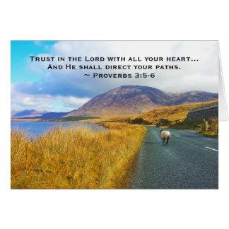 Het 3:5 van gezegden - 6 vertrouwen op Lord, Mooi Briefkaarten 0