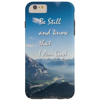 Het 46:10 van het versPsalmen van de bijbel Tough iPhone 6 Plus Hoesje
