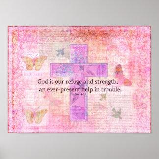 Het 46:1 van de psalm - het Bemoedigende Vers van  Poster