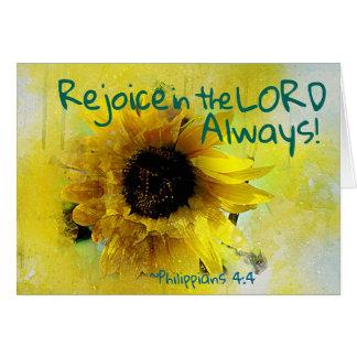 Het 4:4 van Philippians verheugt zich in Lord Kaart