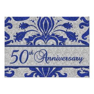het 50ste Blauw Van het Bedrijfs Jubileum van de 12,7x17,8 Uitnodiging Kaart