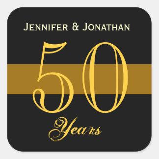 het 50ste Goud en de Zwarte van het Jubileum Vierkante Sticker