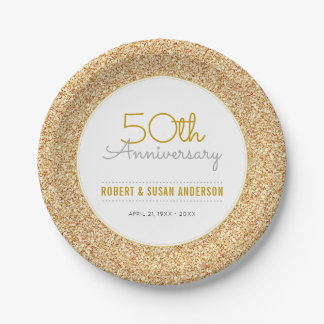 het 50ste Goud van Faux van het Jubileum van het Papieren Bordje