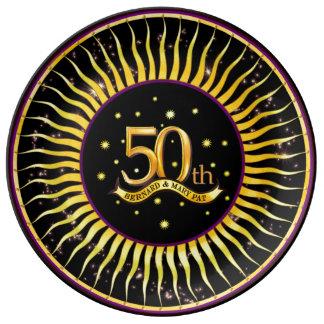 het 50ste Gouden HerdenkingsBord van de Banner van Porseleinen Borden