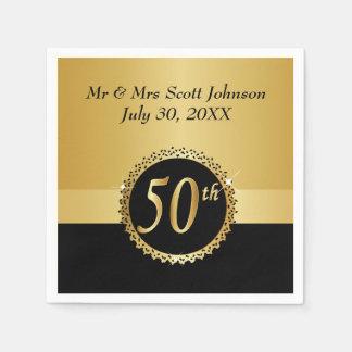 het 50ste Jubileum van de Gouden bruiloft Wegwerp Servet