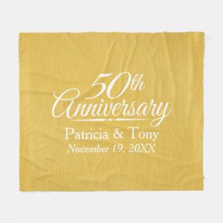 het 50ste Jubileum van het Huwelijk Fleece Deken