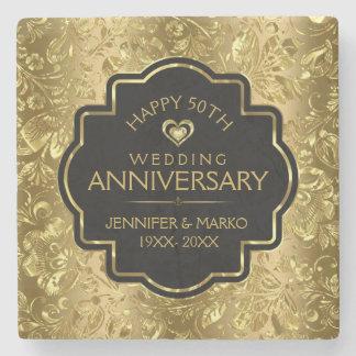 het 50ste Jubileum van het Huwelijk & Gouden Stenen Onderzetter
