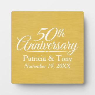 het 50ste Jubileum van het Huwelijk Platen