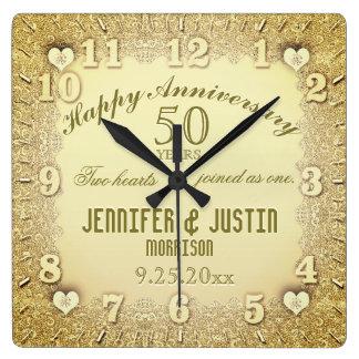het 50ste Jubileum van het Huwelijk Vierkante Klok