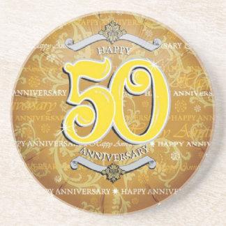 het 50ste Jubileum van het Huwelijk Zandsteen Onderzetter