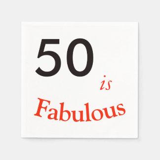 het 50ste Servet van de Verjaardag Papieren Servet