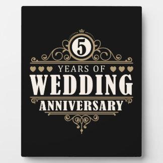 het 5de Jubileum van het Huwelijk Plaat