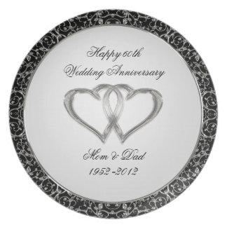 het 60ste Bord van het Jubileum van het Huwelijk