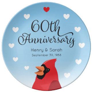 het 60ste Jubileum, de Kardinaal en de Harten van Porseleinen Bord
