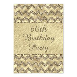 het 60ste Platina van de Verjaardag schittert 12,7x17,8 Uitnodiging Kaart