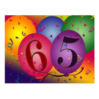 het 65ste briefkaart van de verjaardagspartij