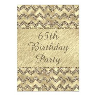 het 65ste Platina van de Verjaardag schittert 12,7x17,8 Uitnodiging Kaart