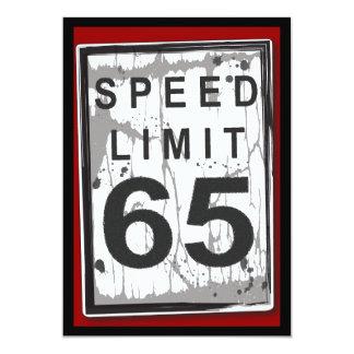 het 65ste Teken van de Maximum snelheid van de 12,7x17,8 Uitnodiging Kaart