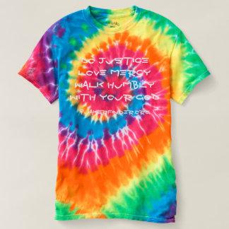 Het 6:8 van Micah van de Kleurstof van het T Shirts