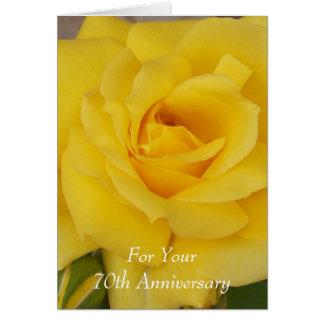 het 70ste Gele Jubileum van het Huwelijk nam toe Wenskaart