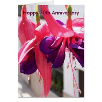 het 70ste Jubileum Fuchsias van het Huwelijk Wenskaart