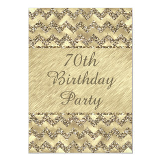 het 70ste Platina van de Verjaardag schittert 12,7x17,8 Uitnodiging Kaart