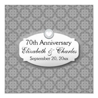 het 70ste Platina van het Jubileum van het 13,3x13,3 Vierkante Uitnodiging Kaart