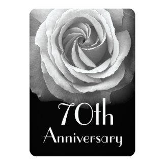 het 70ste Wit van het Platina van het Jubileum van 12,7x17,8 Uitnodiging Kaart