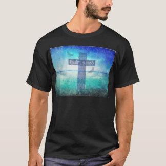 Het 73:26 van de psalm met inspirerend eigentijds t shirt