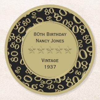 het 80ste Thema van de Partij van de Verjaardag Ronde Viltjes